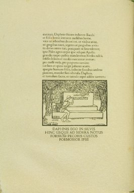 Untitled, pg. 48, in the book Les Éclogues de Virgile by Virgil (translation by Marc Lafargue) (London: Ebery Walker Limited (for Cranach Presse, Weimar), 1926)