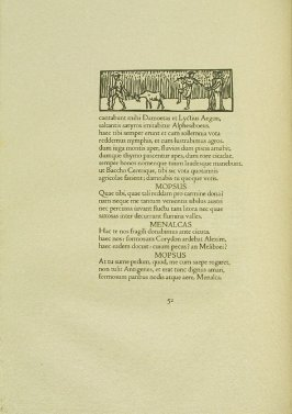 Untitled, pg. 52, in the book Les Éclogues de Virgile by Virgil (translation by Marc Lafargue) (London: Ebery Walker Limited (for Cranach Presse, Weimar), 1926)