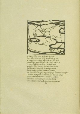 Untitled, pg. 60, in the book Les Éclogues de Virgile by Virgil (translation by Marc Lafargue) (London: Ebery Walker Limited (for Cranach Presse, Weimar), 1926)