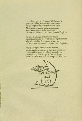 Untitled, pg. 82, in the book Les Éclogues de Virgile by Virgil (translation by Marc Lafargue) (London: Ebery Walker Limited (for Cranach Presse, Weimar), 1926)