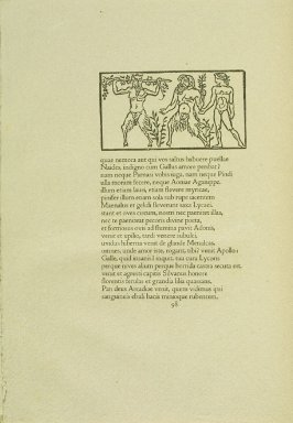 Untitled, pg. 98, in the book Les Éclogues de Virgile by Virgil (translation by Marc Lafargue) (London: Ebery Walker Limited (for Cranach Presse, Weimar), 1926)