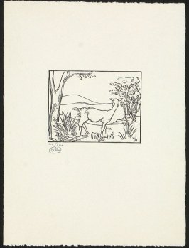 Untitled (Goat in a Woodland Landscape)