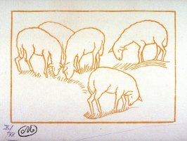 Moutons (Sheep), illustration from an unknown, posthumous edition of Publius Vergilius Maro: Georgica (The Georgics of Virgil)