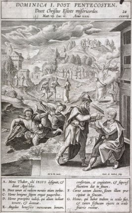 The Sermon on the Mount: Matthew 7, plate 24 from P. Jeronimo Nadal, Evangelicae Historiea Imagines (Antwerp, 1593)