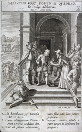 The Departure of the Prodigal Son, plate 66 from P. Jeronimo Nadal, Evangelicae Historiea Imagines (Antwerp, 1593)