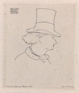 Profile Portrait of Charles Baudelaire