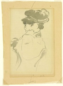Seated Woman Wearing a Soft Hat