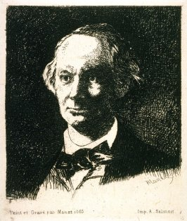 Portrait of Charles Baudelaire, Full Face, from the book Charles Baudelaire, sa vie et son oeuvre (Charles Baudelaire, His Life and His Work) by Charles Asselineau (Paris: Lemerre, 1869)