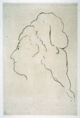 Profile of Eva Gonzalès, turned to the left