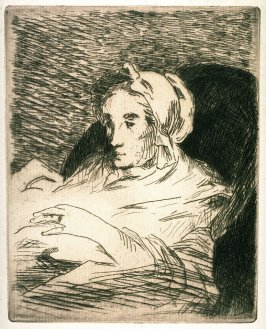 La convalescente (The Convalescent), from the book Manet by Edmond Bazire (Paris: A. Quantin, 1884)