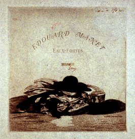 Hat and Guitar, frontispiece from the portfolio Edouard Manet: Eaux-fortes (Edouard Manet: Etchings) (Paris: A. Cadart, 1874)