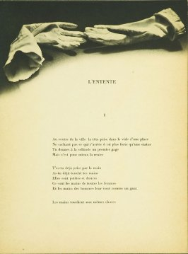 "Untitled, accompanying the poem ""L'Entente,"" in the book Facile by Paul Eluard (Paris: Editions G. L. M., 1935)"