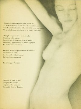 """Untitled, accompanying the poem """"L'Entente,"""" in the book Facile by Paul Eluard (Paris: Editions G. L. M., 1935)"""
