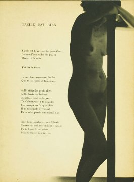 "Untitled, accompanying the poem ""Facile est Bien,"" in the book Facile by Paul Eluard (Paris: Editions G. L. M., 1935)"
