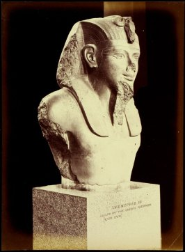 Object from the British Museum: Egyptian bust (Amenophis III: Called by the Greeks Memnon)