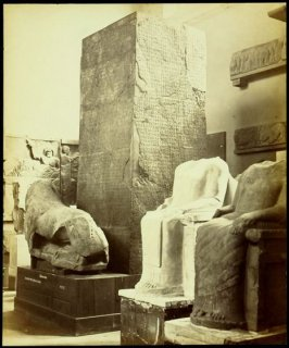 Interior scene of antiquities in the British Museum