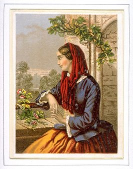 Young Woman Sitting on Terrace