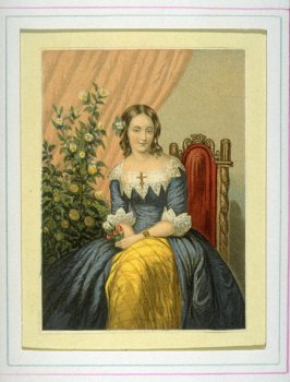 Young woman sitting in chair with flowers in her hand