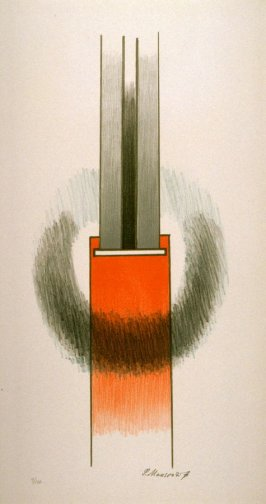 Plate 4 in an untitled portfolio of six color lithographs(Paris: Daniel Gervis Editeur and New York: Parasol Press Ltd., 1970)