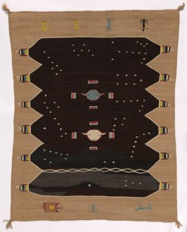 Sand Painting rug: The Night Sky of the Hail Way Chant