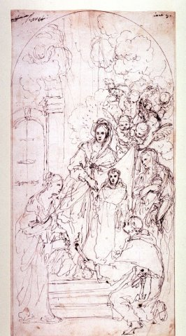 Recto:Madonna with Saints