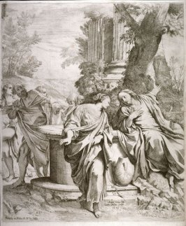 Christ and the Samaritan Woman at the Well, after a painting by Annibale Carracci in the Szépmüvészeti Múzeum, Budapest