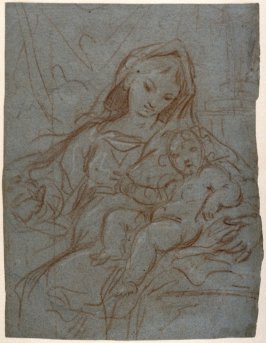Recto:Madonna and ChildVerso:Legs of Male Figure