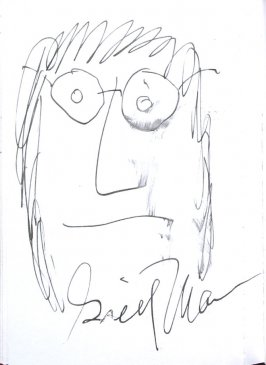 Greil Marcus, Illustration 57 in the book Sketchbook (Sun Valley, Idaho)