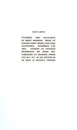 Title page from the portfolio, Five Plates