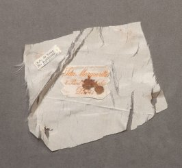 Label from woman's hat (49.10.30a)