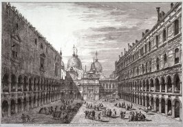 Courtyard of the Ducal palace, pl. 11 from the series Magnificentiores Selectioresque Urbis Venetiarum Prospectus (Views of Venice)