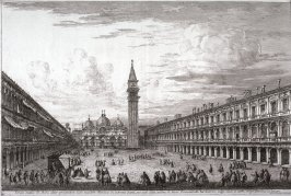 Piazza S. Marco, pl. 8 from the series Magnificentiores Selectioresque Urbis Venetiarum Prospectus (Views of Venice)
