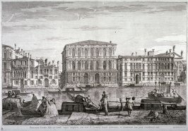 Palazzo Pesaro, pl. 7 from the series Magnificentiores Selectioresque Urbis Venetiarum Prospectus (Views of Venice)