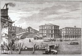 The Bridge and Market of the Rialto, pl. 5 from the series Magnificentiores Selectioresque Urbis Venetiarum Prospectus (Views of Venice)