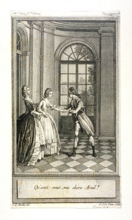 Qu'avez-vous, ma chere Arnil? - one from set of 86 engravings