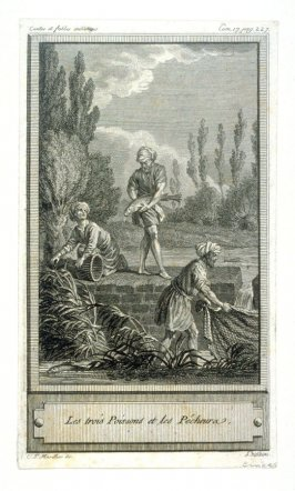 Les trois Poissons les Pecheurs - one from set of 86 engravings