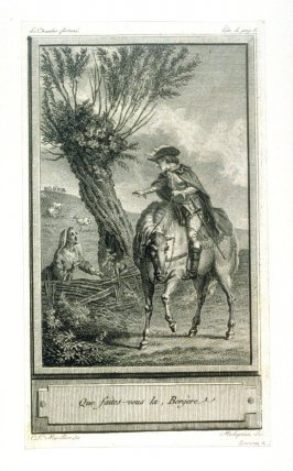 Que faites-vous la, Bergère - one from set of 86 engravings