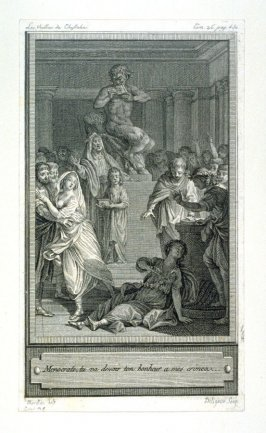 Menocrate, tu va devoir ton bonheur a mes crimes - one from set of 86 engravings
