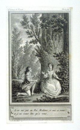 86 engravings from one set: Je ne suis pas Roi Madame, je suis a vous....
