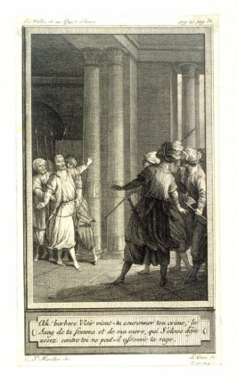 86 engravings from one set: Ah! barbare Visir viens-hi couronner ton crime...