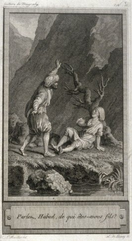 86 engravings from one set: Parlez, Habed, de qui etes-avons fils?
