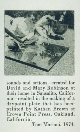 Untitled, fifth image in the book Sun's Reception (Oakland CA.: Crown Point Press, 1974)