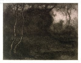 Evening (Forest Landscape with a Deer)
