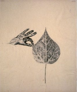Hand In Leaf
