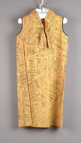 Yellow Pages paper dress