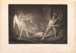 [Eve's Dream—Satan Aroused] Book. 4 line, 813., bound at p.121 in the book, The Paradise Lost of John Milton (London: Charles Whittingham, 1846)
