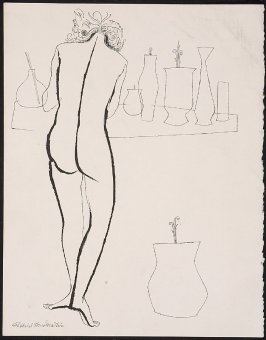 Untitled (Standing Female Figure with Group of Vases)