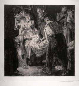 Carrying a Dying Man--Night Scene