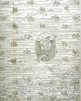 Vignette for the coverof the book Beulah Land: Fifteen Etchings by Fred Martin (Berkeley: Crown Point Press, 1966)