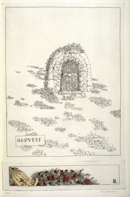 Stone Barn, pl. 8 from Beulah Land: Fifteen Etchings by Fred Martin (Berkeley: Crown Point Press, 1966)